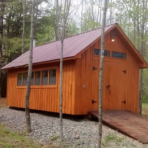 Custom Shed, designed and built by shed solutions maine